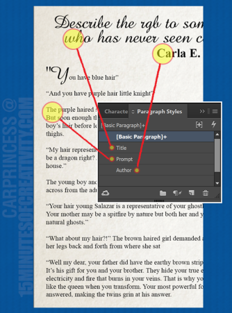 Adobe InDesign: Paragraph Style Sheet