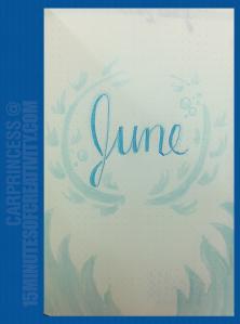 BuJo Adventure: June 2017 Cover | 15MinutesofCreativity.com